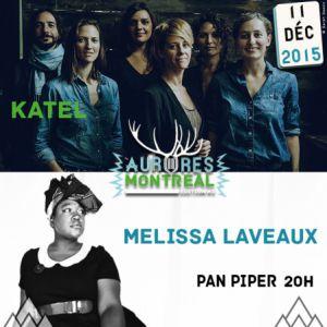 Concert MELISSA LAVEAUX + KATEL - FESTIVAL AURORES MONTREAL à PARIS @ LE PAN PIPER - Billets & Places
