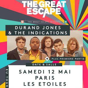 DURAND JONES AND THE INDICATIONS @ THEATRE LES ETOILES - Paris