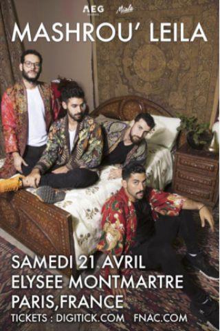 Concert MASHROU' LEILA à PARIS @ ELYSEE MONTMARTRE - Billets & Places