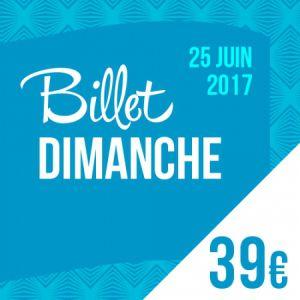 Billets SOLIDAYS 2017 - BILLET DIMANCHE - Hippodrome de Longchamp