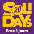 Affiche Solidays 2018 - pass 3 jours 89€