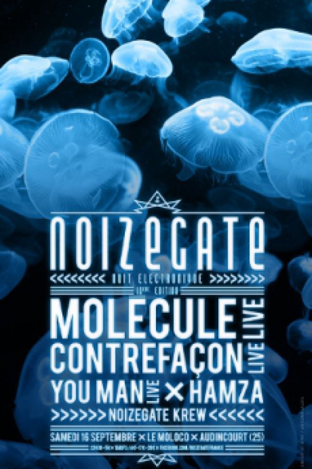 Noizegate #10-Molecule+Contrefaçon+You Man+Hamza+Noizegate Krew @ Le Moloco - Espace Musiques Actuelles du Pays - AUDINCOURT