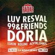 Concert RADAR : LUV RESVAL, 99&FRIENDS, DORIA, ESKEN, KOLINE, ALVIN CHRIS à PARIS @ La Boule Noire - Billets & Places
