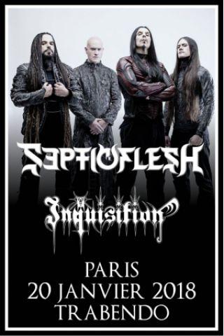 Concert SEPTICFLESH + INQUISITION - Paris