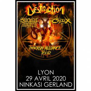 Destruction + Suicidal Angels + Crisix