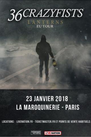 Concert 36 CRAZYFISTS à PARIS @ La Maroquinerie - Billets & Places