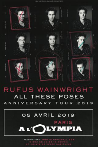 Concert RUFUS WAINWRIGHT  à Paris @ L'Olympia - Billets & Places