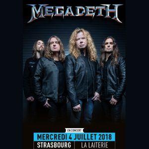 MEGADETH + Guest @ La Laiterie - Grande Salle - Strasbourg