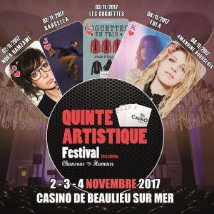 QUINTE ARTISTIQUE FESTIVAL - PASS 3 JOURS @ Casino de Beaulieu  - BEAULIEU SUR MER