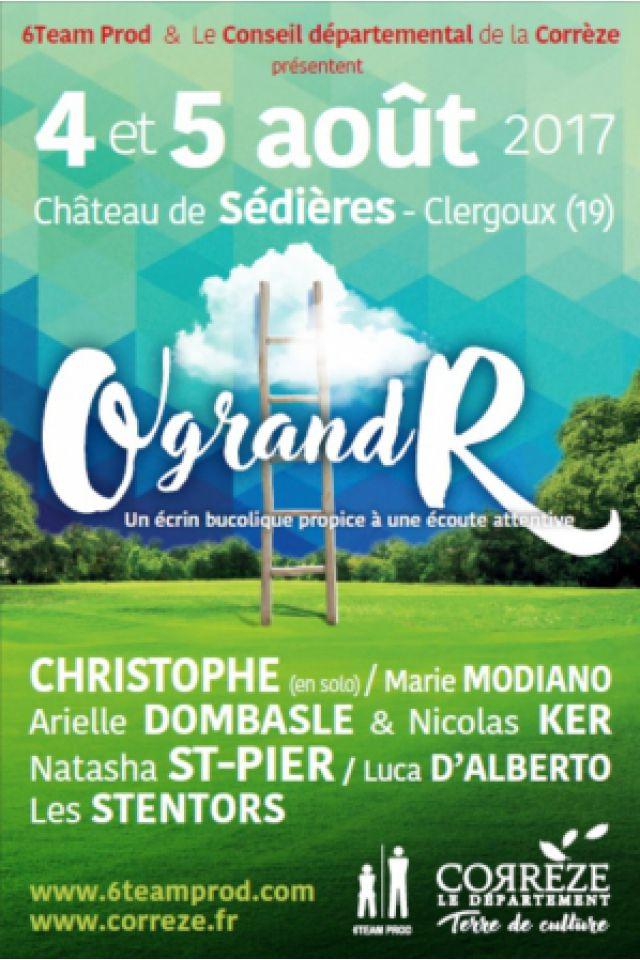 """Festival """"O grand R"""" 2017 - PASS 2 JOURS à CLERGOUX @ Château de Sédières - Billets & Places"""