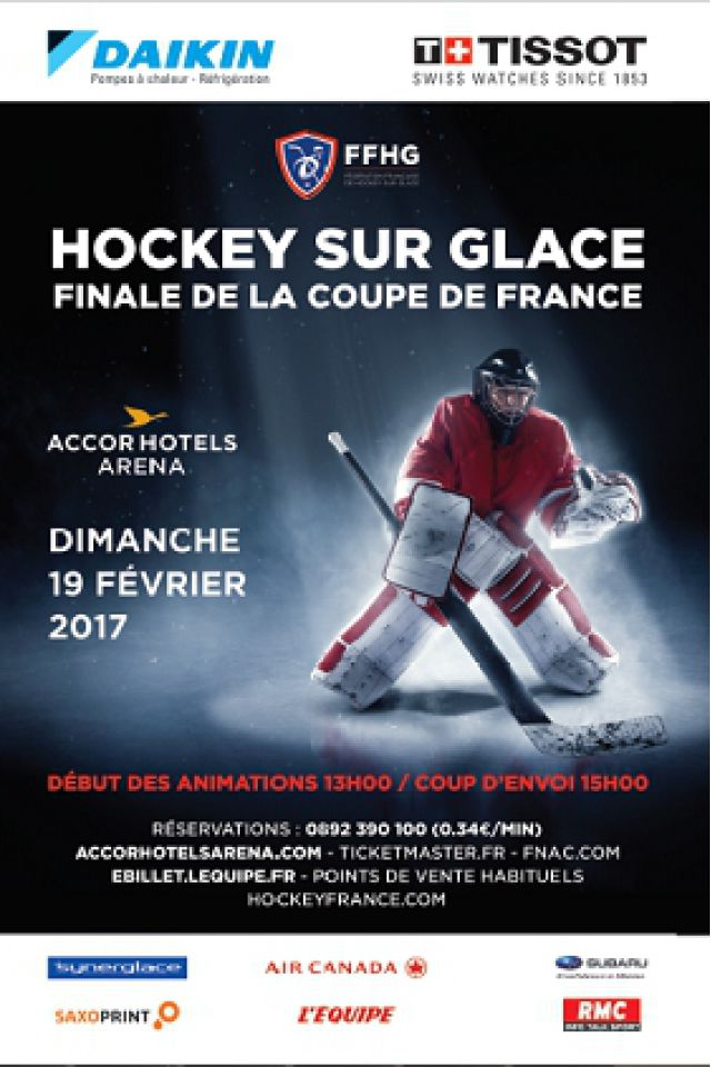 Match finale coupe de france de hockey 2017 paris accorhotels arena billets places - Billets finale coupe de france ...