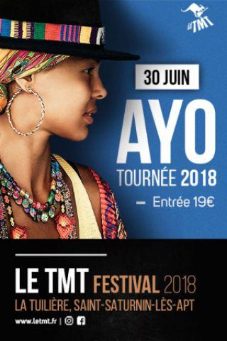 Concert Ayo (tournée 2018) - Le TMT Festival 2018 à SAINT SATURNIN LÈS APT @ Place de la Tuilière - Billets & Places