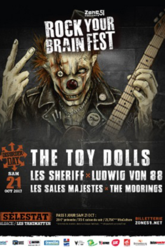 Concert ROCK YOUR BRAIN FEST / DISORDER DAY ! à SÉLESTAT @ Les Tanzmatten - Billets & Places