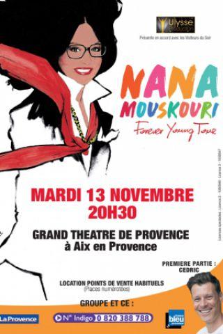 Spectacle NANA  MOUSKOURI  à Aix-en-Provence @ GRAND THEATRE DE PROVENCE  - Billets & Places