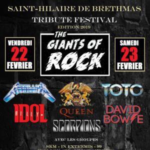 FESTIVAL '' THE GIANTS OF ROCK II ''  SAINT HILAIRE DE BRETHMAS @ Gymnase - Complexe Culturel & Sportif  - SAINT HILAIRE DE BRETHMAS