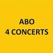 ABONNEMENT 4 CONCERTS à LA ROCHE SUR YON @ VENDEE - Billets & Places