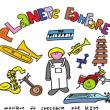 Carte Planète Fanfare, un spectacle musical de Kim