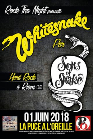 Concert SONS OF SNAKE TRIBUTE WHITESNAKE à RIOM @ La Puce a l'Oreille - Billets & Places