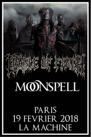 Concert CRADLE OF FILTH  + MOONSPELL