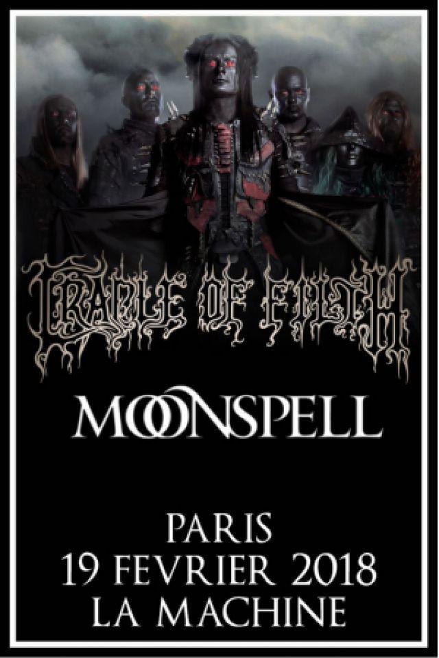 CRADLE OF FILTH  + MOONSPELL @ La Machine du Moulin Rouge - Paris