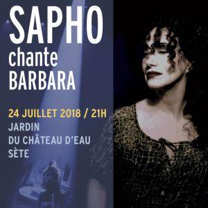Concert SAPHO chante BARBARA @ Jardin du château d'eau - SÈTE