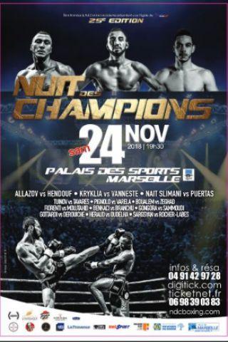Billets NUIT DES CHAMPIONS  - Palais des Sports