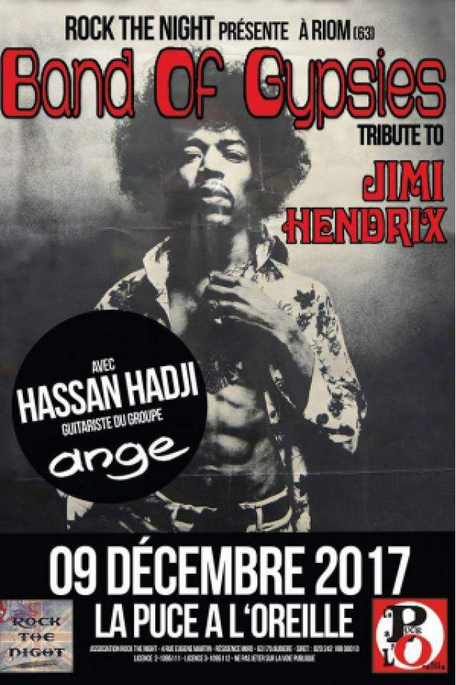 BAND OF GYPSIES TRIBUTE TO JIMI HENDRIX @ La Puce a l'Oreille - RIOM