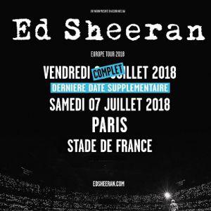 ED SHEERAN @ Stade de France - SAINT DENIS