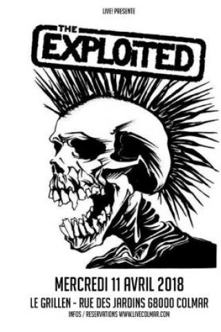 Concert THE EXPLOITED à COLMAR @ Le GRILLEN - Billets & Places