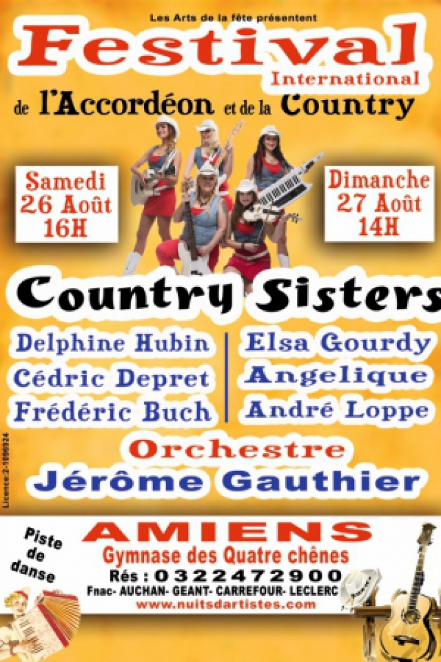 LE FESTIVAL INTERNATIONAL DE L'ACCORDEON ET DE LA COUNTRY @ GYMNASE DES QUATRE CHENES - AMIENS