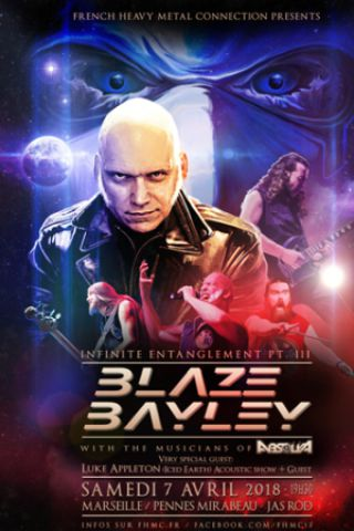 Concert BLAZE BAYLEY à LES PENNES MIRABEAU @ Le Jas'Rod - Billets & Places