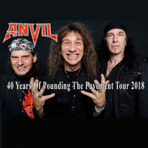 ANVIL - 40 Years Of Pounding The Pavement Tour 2018 @ Le GRILLEN - COLMAR