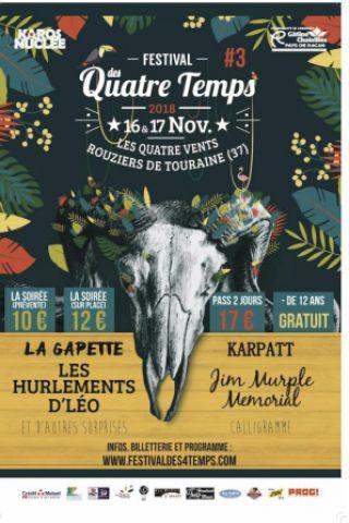 Festival PASS SAMEDI à Rouziers de Touraine  @ Les Quatre Vents - Billets & Places