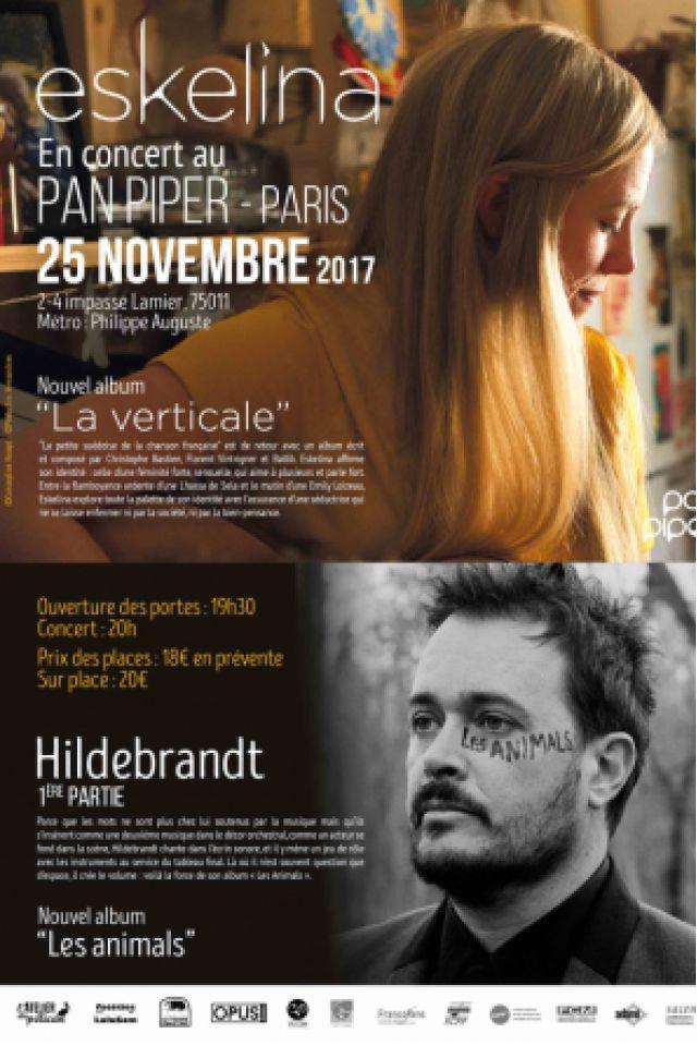 ESKELINA & HILDEBRANDT en concert au Pan Piper - Paris @ LE PAN PIPER - Billets & Places