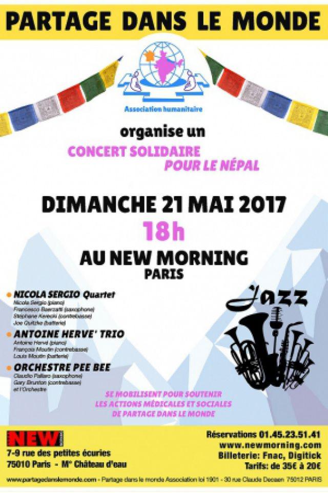 Concert solidaire pour le Népal à Paris @ New Morning - Billets & Places