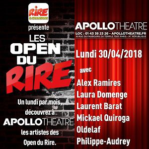 Les Open du Rire @ APOLLO THEATRE - PARIS