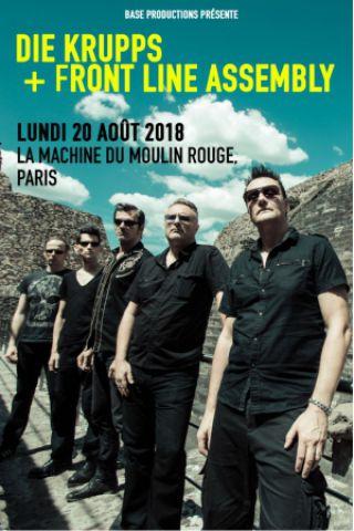 Concert Die Krupps + Front Line Assembly à Paris @ La Machine du Moulin Rouge - Billets & Places