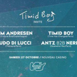Timid Boy invite: Tim Andresen @ Le Nouveau Casino - Paris