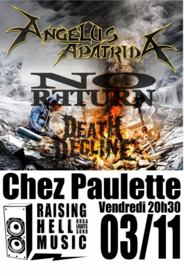 ANGELUS APATRIDA + NO RETURN @ Chez Paulette - Pagney derrière Barine