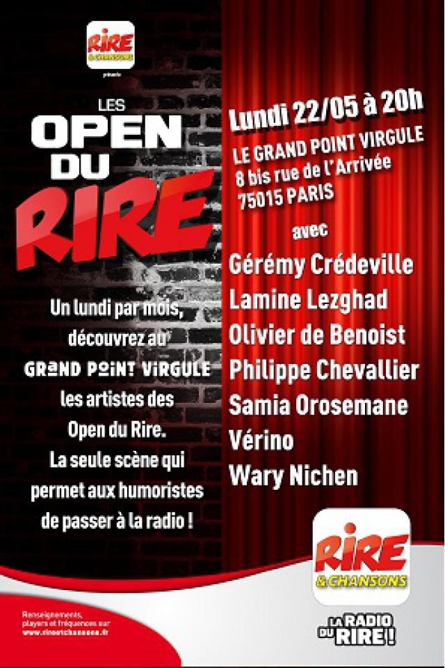 LES OPEN DU RIRE @ Théâtre Le Grand Point Virgule - PARIS