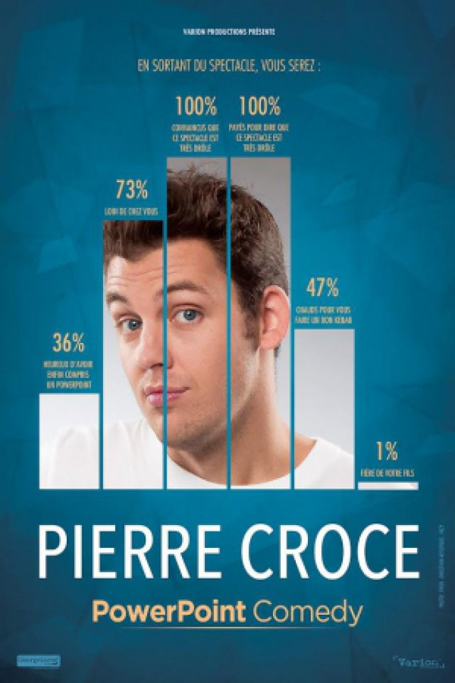"""PIERRE CROCE """"PowerPoint Comedy"""" @ LE K - KABARET CHAMPAGNE MUSIC HALL - TINQUEUX"""
