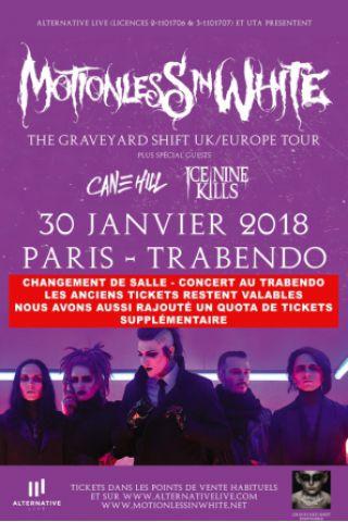 Concert MOTIONLESS IN WHITE + CANE HILL + ICE NINE KILLS