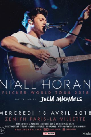 Concert NIALL HORAN à Paris @ Zénith Paris La Villette - Billets & Places