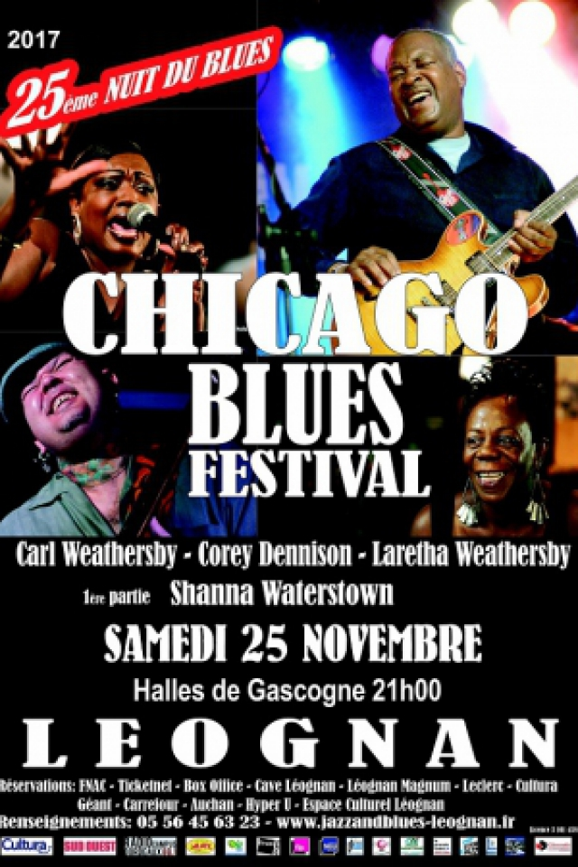 Concert CHICAGO BLUES FESTIVAL / 25ème Nuit du Blues à Léognan @ Halles de Gascogne  - Billets & Places