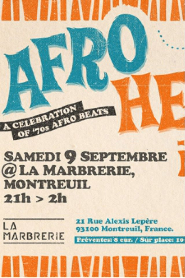 Afro Heat #2 : A celebration of 70's afro beats @ La Marbrerie - MONTREUIL