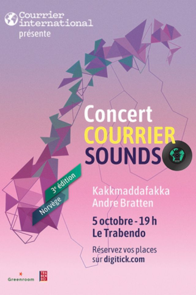 Courrier Sounds : André Bratten + Kakkmadafakka @ Le Trabendo - Paris