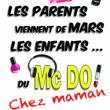 Théâtre Les parents viennent de mars, les enfants du Mc Do! Chez maman