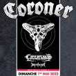 Concert CORONER AU GRILLEN COLMAR