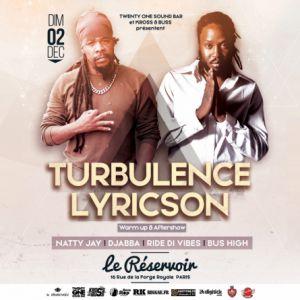 CONCERT TURBULENCE ET LYRICSON A PARIS  @ LE RESERVOIR - Paris