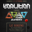 Concert KOALITION invite ELEMENTS FESTIVAL w/AIROD, A*S*Y*S, INJECTED
